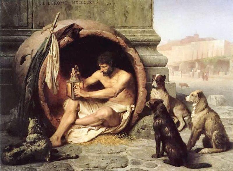 Resultado de imagem para imagem para o filosofo grego diogenes